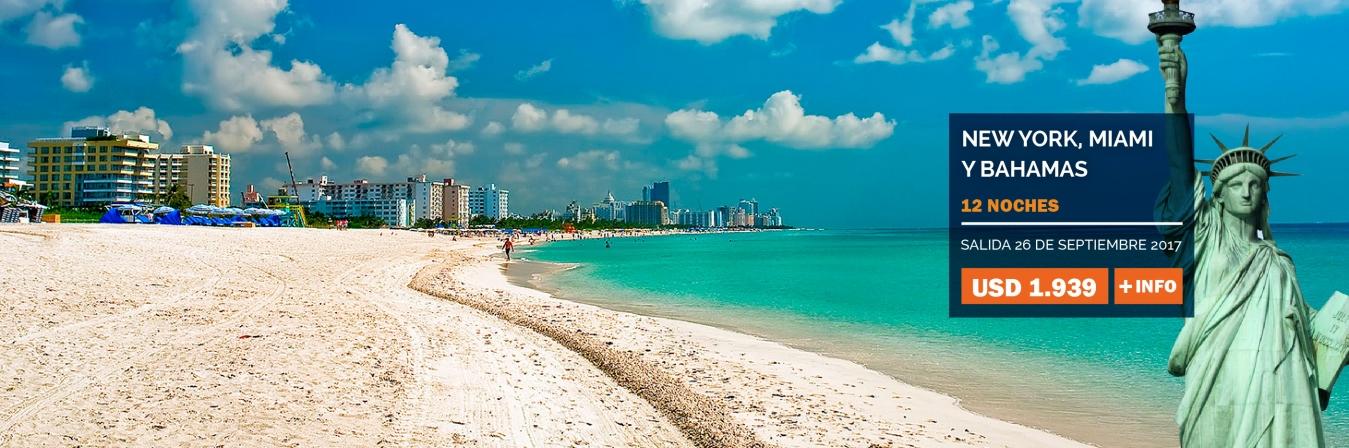 Nueva York, Miami, Bahamas